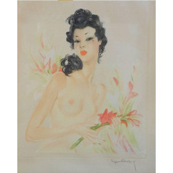 Nude Contemporary of Domergue - Eugène Leliepvre